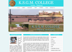 Ksgmcollege.in thumbnail