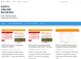 Ksrtconlinebooking.in thumbnail