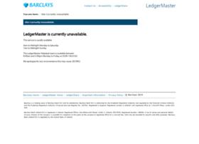 Ledgermaster.barclays.com thumbnail