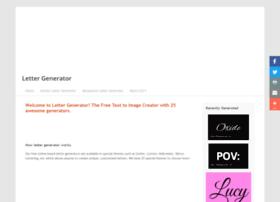Lettergenerator.net thumbnail