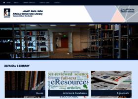 Lib.alfaisal.edu thumbnail