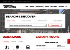 Library.newschool.edu thumbnail