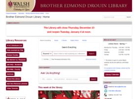 Library.walsh.edu thumbnail