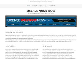 Licensemusicnow.com thumbnail