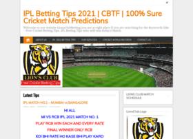 Lionsclubbettingtips.com thumbnail