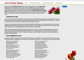 List-of-flower-names.com thumbnail