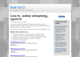 Live-tv.hu thumbnail