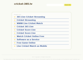 live cricket match 365