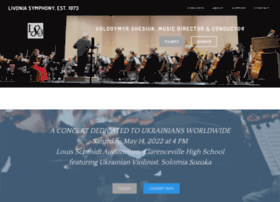 Livoniasymphony.org thumbnail