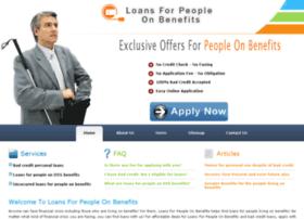 Loansforpeopleonbenefits.org.uk thumbnail