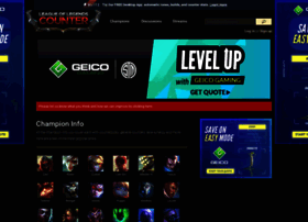 Lolcounter Com At Wi Lol Counter League Of Legends Counterpicks