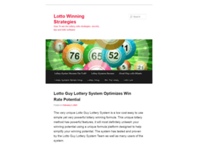 Lottostrategies.lottoguy.net thumbnail