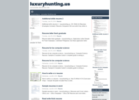 Luxuryhunting.us thumbnail