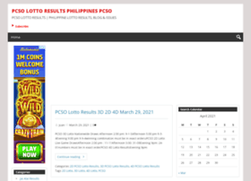 PCSO LOTTO RESULTS PHILIPPINES PCSO