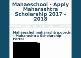 Mahaeschol-gov.in thumbnail