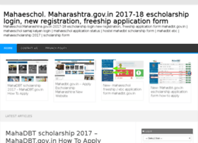 Mahaescholmaharashtra-gov.in thumbnail