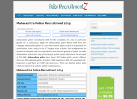 Maharashtra.policerecruitments.in thumbnail
