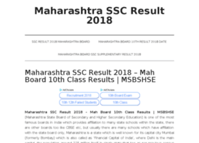 Maharashtrasscresult2018.in thumbnail