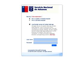 Mail.aduana.cl thumbnail