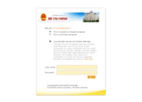 Mail.mof.gov.vn thumbnail