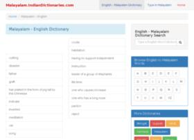 Malayalam.indiandictionaries.com thumbnail