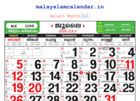 Malayalamcalendar.in thumbnail