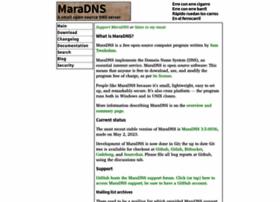 Maradns.org thumbnail