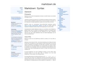 Markdown.de thumbnail
