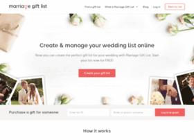 Marriagegiftlist.com thumbnail