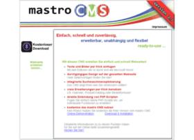 Mastro-cms.de thumbnail