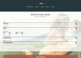 match com login
