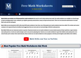 Math-drills.com thumbnail