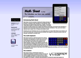 Math-sheet.de thumbnail