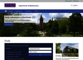 Maths.manchester.ac.uk thumbnail
