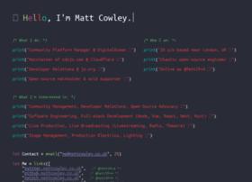 Mattcowley.co.uk thumbnail