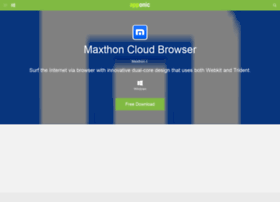 Maxthon-cloud-browser.apponic.com thumbnail