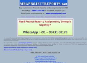 Mbaprojectreports.net thumbnail