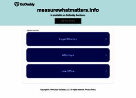 Measurewhatmatters.info thumbnail
