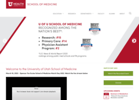 Medicine.utah.edu thumbnail