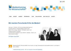 Medientraining-fuer-wissenschaftler.de thumbnail
