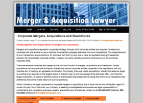 Mergeracquisitionlawyer.ca thumbnail