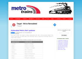Metrotrains.in thumbnail