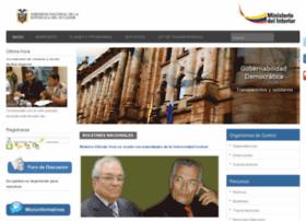 Mingobierno.gov.ec thumbnail