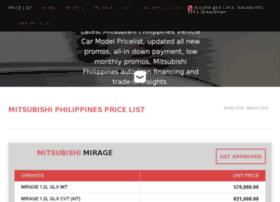 Mitsubishipricelist.com thumbnail