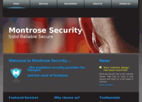Montrosesecurity.co.uk thumbnail