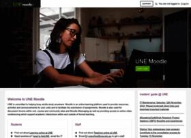 Moodle.une.edu.au thumbnail