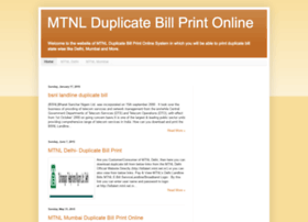 Mtnl-duplicate-bill-print.blogspot.in thumbnail