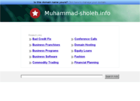 Muhammad-sholeh.info thumbnail