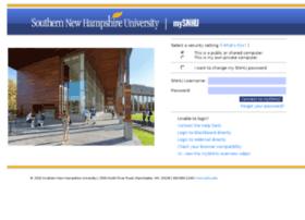 my.snhu.edu at WI. MySNHU Login
