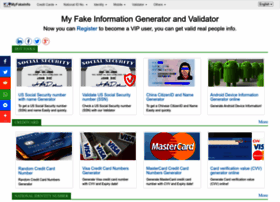 myfakeinfo com at WI  My Fake Information Generator and Validator